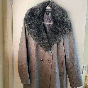 Women's pea coat grey